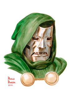 Doom by Paolo Rivera Marvel And Dc Characters, Marvel Villains, Marvel Comic Character, Marvel Heroes, Character Art, Marvel Comic Universe, Marvel Comics Art, Comics Universe, Fantastic Four Marvel