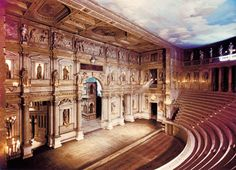 Teatro Olimpico, Vicenza, Italy  My Daughter and Son's graduation was held here♥ Wonderful memories!  K~