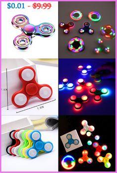 Tri-Spinner Fidget, Multi color, Led