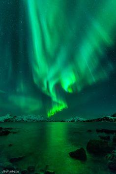 Auroras-Taken by Harald Albrigtsen on January 28, 2014 @ Skulsfjord,Tromsø,Norway