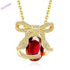 Find More Pendant Necklaces Information about Artisitc shine bowknot zircon pendant necklace for woman 18K gold plated,High Quality jewelry clearance,China jewelry gift bags wholesale Suppliers, Cheap jewelry necklace display from Faustine on Aliexpress.com