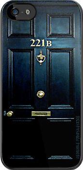 Sherlock Holmes 221b Door water color painting - apple iphone 5 iphone 4 4s & Sherlock Holmes Earrings. Cute. | Jewels | Pinterest | Sherlock ...
