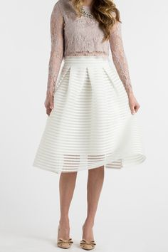 White Skirts for Women, Striped Skirts, Spring Outfit Inspiration