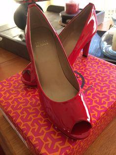 Stuart Weitzman red patent leather