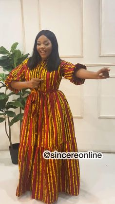 Latest African Fashion Dresses, African Dresses For Women, African Print Fashion, Africa Fashion, African Attire, African Inspired Clothing, Plus Size Maxi Dresses, Online Fashion Stores, Muslim Fashion