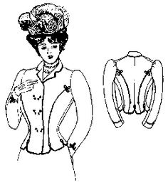 Past Patterns: #210: 1899-1900 Double Breasted Dress Jacket
