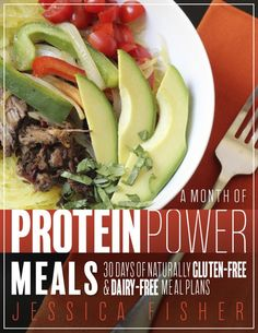 Protein Power Meal Plan from Jessica Fisher - Are you looking to eat more healthfully in the new year? Check out the newest month of meals: Protein Power! It will set you up for great new habits.