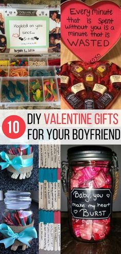 DIY Valentine's Gift for Boyfriend Ideas - These cute Valentine's Day gift ideas are the perfect surprise for your boyfriend this Valentine's Day! Whether you are looking for something sweet, funny, or thoughtful, these DIY Valentine's Day gift ideas are Diy Valentine's Day Gifts For Boyfriend, Surprises For Your Boyfriend, Diy Valentines Gifts For Him, Diy Gifts For Him, Boyfriend Crafts, Surprise Boyfriend, Cute Ideas For Boyfriend, Perfect Gift For Boyfriend, Funny Boyfriend Gifts