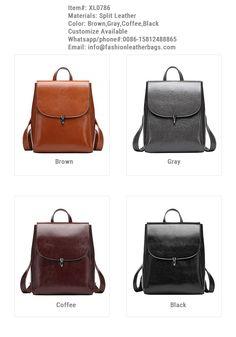 61a629e461 Genuine Leather Stylish Fashion Leather Backpack School Bag XL0786