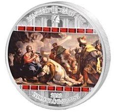 2013 3 Ounce Adoration Of The Kings Silver Coin - Masterpieces Of Art – ArtInCoins
