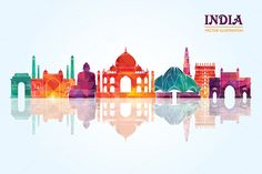 Find India Skyline Vector Illustration stock images in HD and millions of other royalty-free stock photos, illustrations and vectors in the Shutterstock collection. Thousands of new, high-quality pictures added every day. India Painting, Painting Prints, Watercolor Paintings, Incredible India Posters, Ancient Indian History, Independence Day India, Digital India, India Culture, India Art