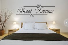 This self-adhesive vinyl wall quote can be easily applied just above your bed. The words add a special decorative touch to not only the wall but to the space as a whole. It comes off just as easily as it goes on the wall, so you can swap it out for another quote in the months or years to come.
