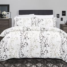 $70  HEINOLA 100% Cotton Duvet Cover Set