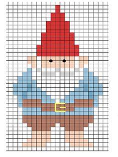 Cross-stitch gnome pattern