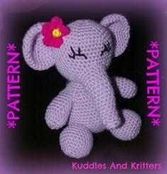 PATTERN ONLY  Crochet Elsie Elephant by KuddlesAndKritters on Etsy