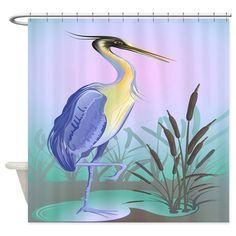Heron Shower Curtain on CafePress.com