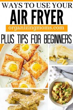 How to make the most of your new air fryer. Air fryer tips. How to use an air fryer, recipes, and more! Air Fryer Recipes Breakfast, Air Fryer Oven Recipes, Air Fryer Dinner Recipes, Air Fryer Recipes Chicken Wings, Air Fryer Recipes Cauliflower, Air Fryer Recipes Gluten Free, Power Air Fryer Recipes, Air Fryer Recipes Potatoes, Convection Oven Recipes