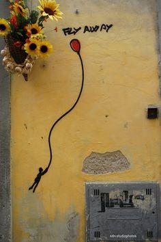 "Exit Enter, ""Fly away"", Sdrucciolo de' Pitti, Firenze (Toscana, Italy) - by Silvana, aprile 2014"