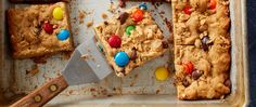 One of our favorite cookies -- packed with peanuts, M&M's™ chocolate candies and oats -- gets a super-easy bar makeover! Perfect for parties, lunch boxes or anytime you want a sweet bite.