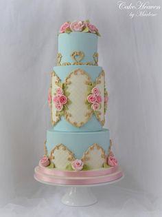 Baroque Cake by CakeHeaven by Marlene - http://cakesdecor.com/cakes/249078-baroque-cake