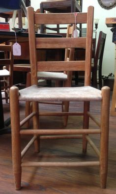 Cowhide seat ladder back chairs