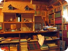 Booooooks and a dollhouse! Me like!