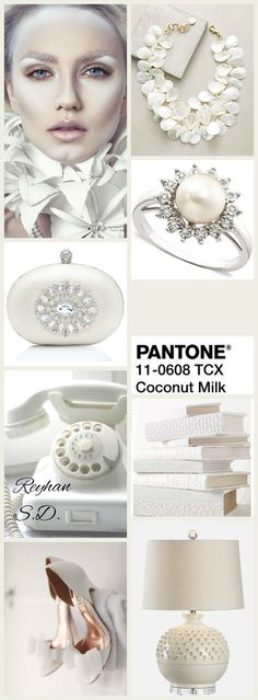 '' Coconut Milk - Pantone '' by Reyhan S.