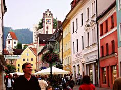 Füssen, Germany...When I got home from vacation in 2009, I uploaded my photos and, I'm not sure, but it looks like I accidentally photographed Rick Steves.
