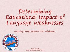 This product provides descriptions of the Listening Comprehension Test-Adolescent and each of its subtests. The descriptions utilize information from the Listening Comprehension Test-Adolescent manual to identify the relationships to the curriculum and classroom activities.