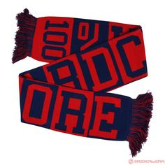 100% Hardcore Scarf (Red/Blue) | 334-038-230