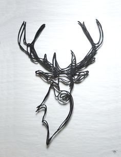 Part of the RESPECTFUL ANIMAL TROPHY series, the majestic Stag Head wall sign is designed by Tes-Ted for Hu2 and handmade in France from sustainably sourced wood board.  Find it: http://www.hu2.com/stag-head-wooden-sign