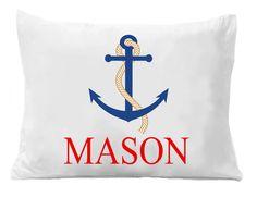 Beach Pillowcase Anchor Pillow case by TheTrendyButterfly Monogram Pillowcase, Anchor Pillow, Personalized Pillow Cases, Beach Gifts, Soft Pillows, Etsy, Custom Pillow Cases