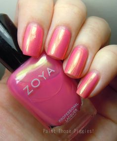 Nailstalgia-Zoya Happi | Not sure if this is too Barbie pink for me, but I like the metallic thing going on.