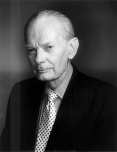 """David Brinkley (1920 - 2003) Former co-anchor of the pioneering news program """"The Huntley-Brinkley Report"""" on NBC, Brinkley later hosted the political talk show """"This Week with David Brinkley."""" He was known for his wry  humor and low-key style"""