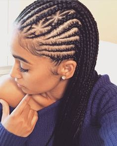 Click and discover the most elegant, cute, and edgy black hairstyles out there! From afros to goddess braids, cornrows to box braids, to pixies & many more! Black Girl Braids, Braids For Black Hair, Girls Braids, Braids For Black Women Cornrows, Braided Hairstyles For Black Women Cornrows, Black Hairstyles With Weave, Braided Updo, Ghana Braids Hairstyles, Protective Hairstyles