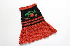 Crochet Dog Dress with Pumpkins size small por MaxMilian en Etsy