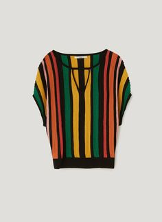 Uterqüe United Kingdom Product Page - New in - View all - Multicoloured striped sweater - 95