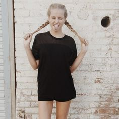 | Brandy Melville | Black Mesh Top Black mesh top in great condition ! Brandy Melville Tops