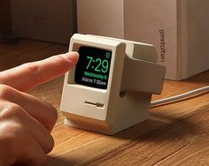 elago channels a retro macintosh for this apple watch stand