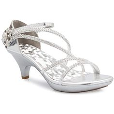 64f7a7d81882a4 OLIVIA K Women s Open Toe Strappy Rhinestone Dress Sandal Low Heel Wedding  Shoes     Sincerely hope that you do like the image. (This is our affiliate  link)