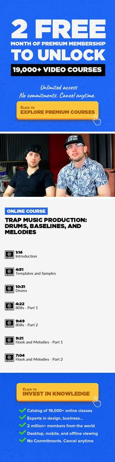 Trap Music Production: Drums, Baselines, and Melodies Music, Music Composition, Music Fundamentals, Music Production, Creative, Reason #onlinecourses #onlineuniversitybest #onlinedegreestudy   Trap music is dominating festivals everywhere, and in this new class with DJ/producer duo K Theory, you'll learn how to build trap beats of your own. From drums and basslines to hooks and melodies, this clas...