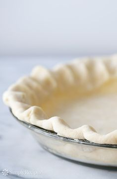 All Butter Crust for Sweet and Savory Pies (Pâte Brisée) ~ An all butter pie crust recipe for sweet and savory pies.  Pâte Brisée recipe. ~ SimplyRecipes.com