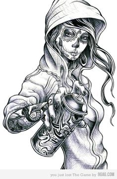 Find the desired and make your own gallery using pin. Drawn graffiti dia de los muertos female skull - pin to your gallery. Explore what was found for the drawn graffiti dia de los muertos female skull Graffiti Tattoo, Graffiti Art, Graffiti Drawing, Lowrider Art, Lowrider Tattoo, Sugar Skull Tattoos, Sugar Skull Art, Sugar Skulls, Candy Skulls