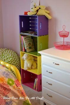 DIY Colorful Bookcase