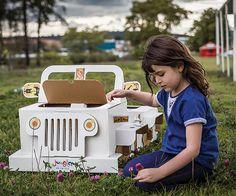 Eco-Friendly Cardboard Jeep by Stylishpartyideas on Etsy