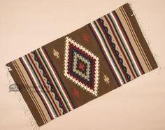"""Zapotec Mexican Rug 30""""""""x60"""""""" (Z32)"""