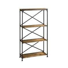 Cyan Design 04541 Monacco Etagere Shelves in Rustic Storage, Contemporary & Modern Etagere Bookcase, Bookcase Storage, Pipe Bookshelf, Rustic Shelves, Wood Shelves, Shelving Units, Rustic Cabinets, Storage Units, Display Shelves