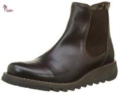 Fly London Salv, Bottes Chelsea Femme, Marron (Dark Brown), 37 EU - Chaussures fly london (*Partner-Link)