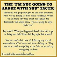 wow.... the best thing I've learned from this experience... is to never associate with a narcissist ever again. and now i have hands on experience with identifying them