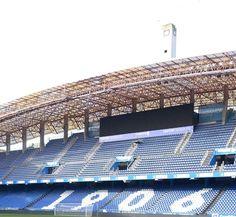El año de la fundación del Deportivo figura en las gradas del estadio de Riazor javier alborés